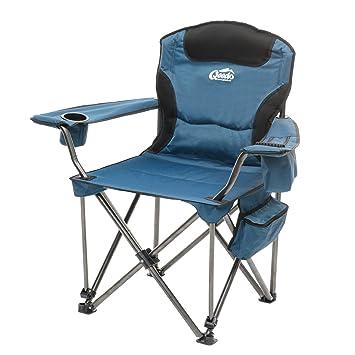 Qeedo Johnny Jumbo Chaise Pliante De Camping XXXL Capacite 250 Kg