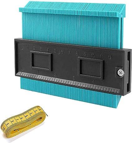 25 cm 15 cm 25 cm duplicazioni di contorno set di strumenti di misurazione per angoli Set di 3 misuratori in plastica per contorno da 5 pollici profilo sagomato profilo in plastica