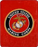 "Marine Corps Seal Sherpa Throw Blanket (Emblem, Sherpa Throw 50"" X 60"")"