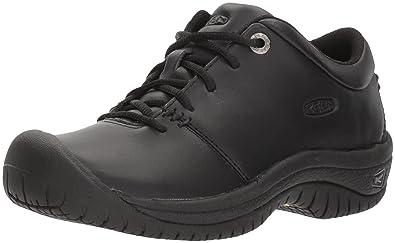 KEEN Utility Womens PTC Oxford Work Shoe      Black      5
