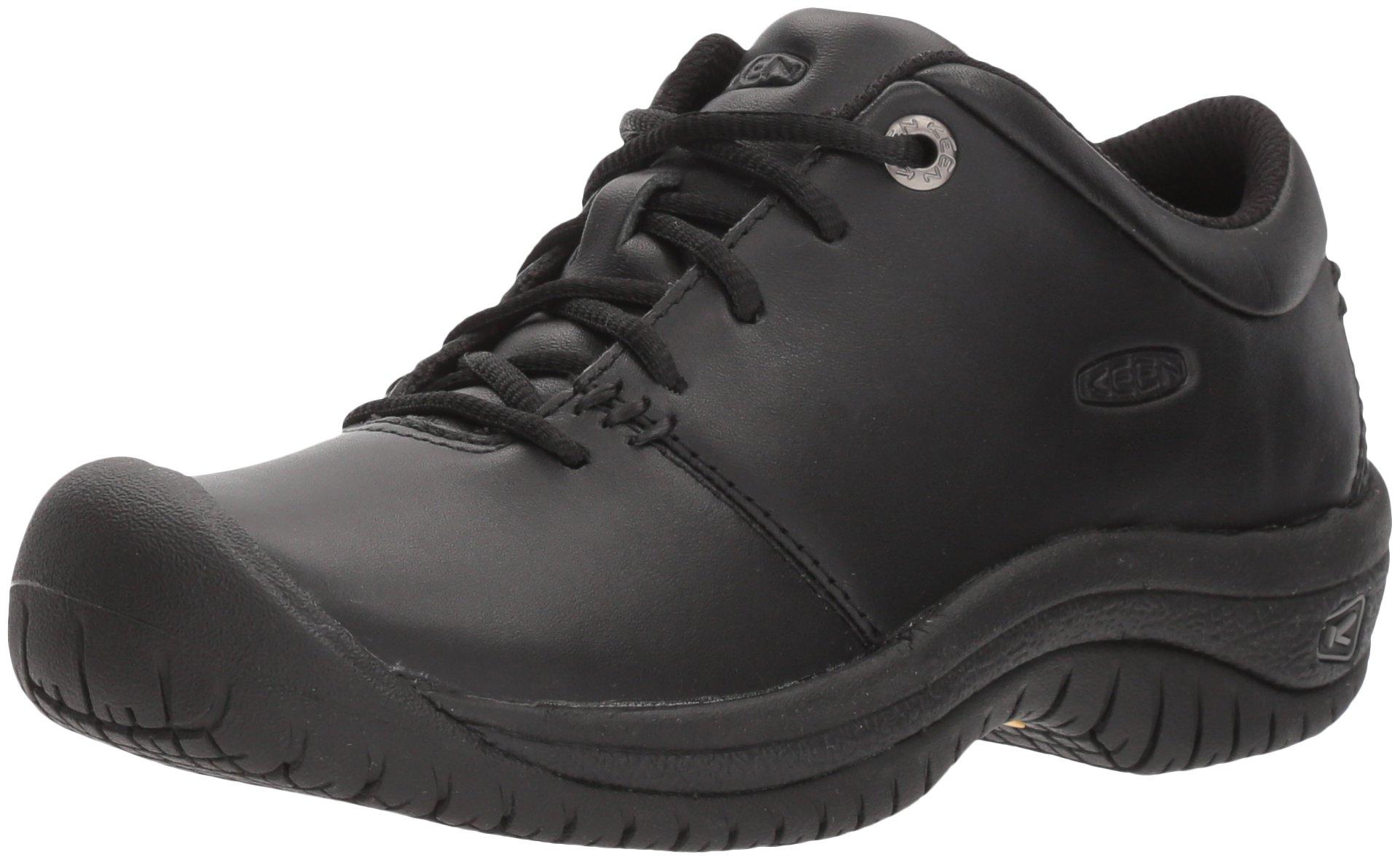 KEEN Utility Women's PTC Oxford Work Shoe,Black,7 M US