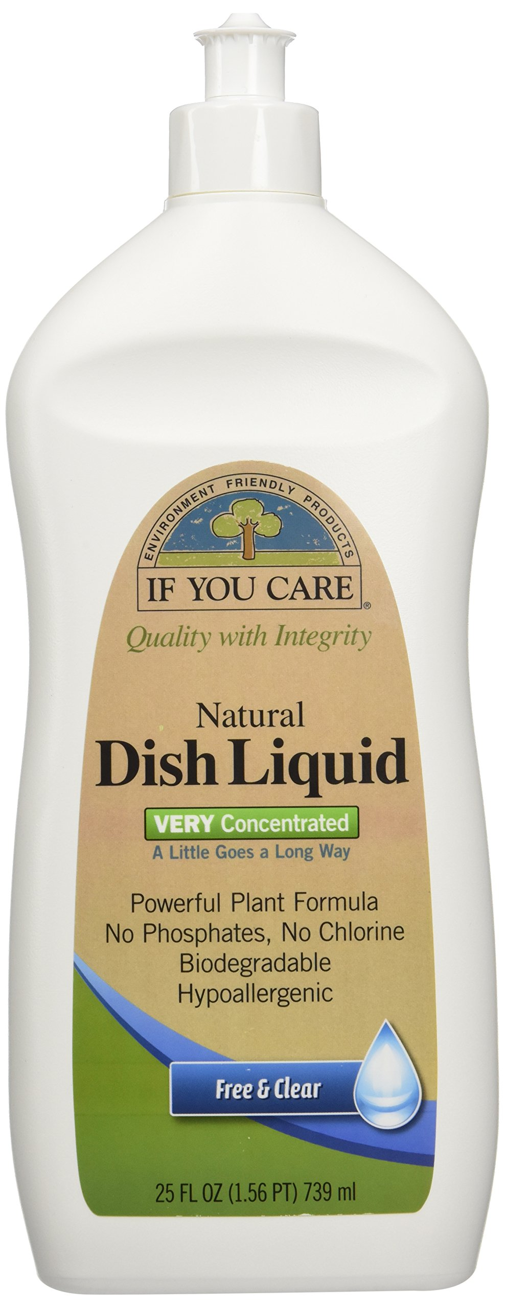 IF YOU CARE Natural Dish Liquid, Free and Clear, 25 Ounce