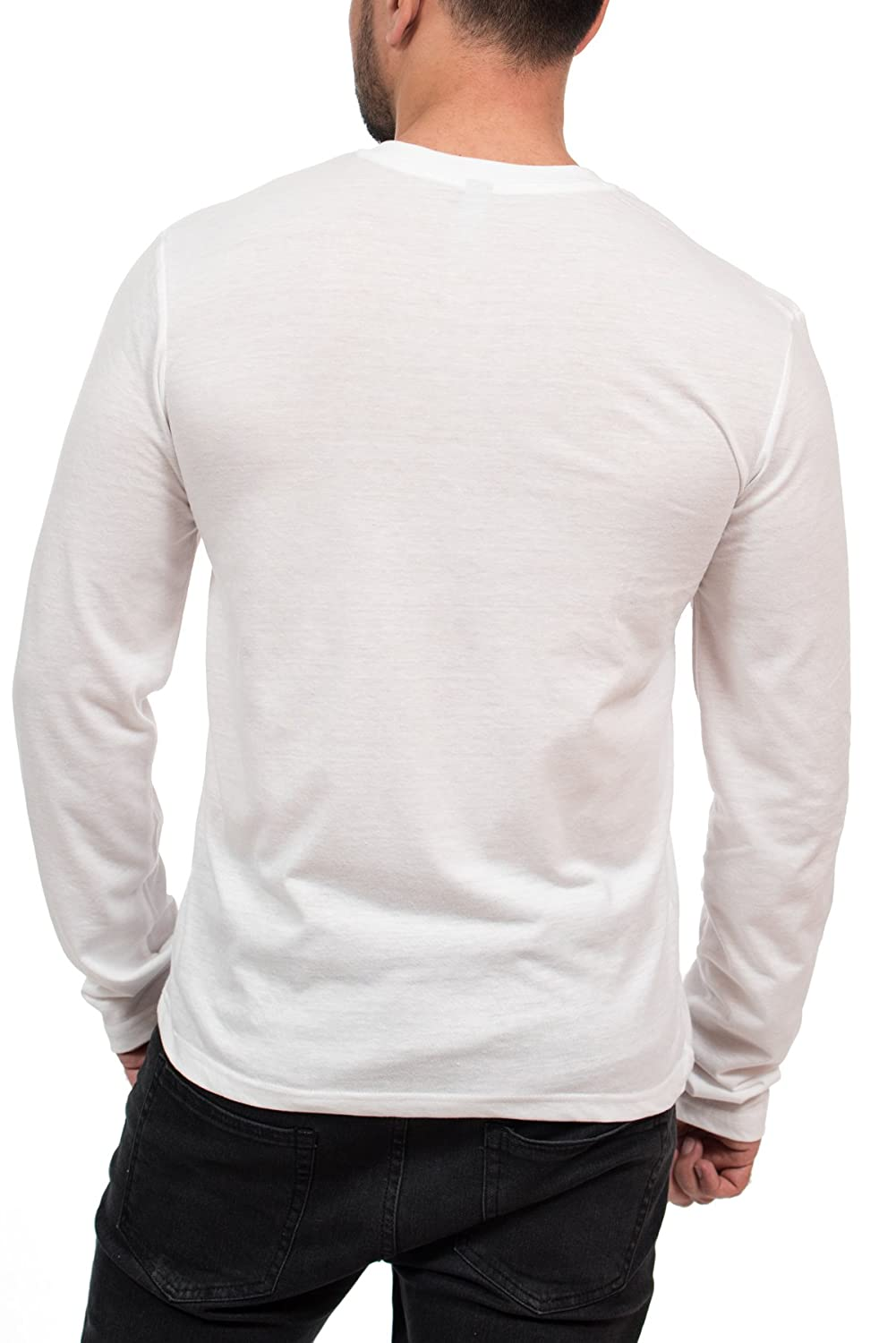 5f4319f8e127 MTL Apparel Henley 3-Button Mens Long Sleeve Fashion T-Shirt larger image