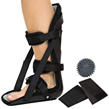 Plantar Fasciitis Splint By Vive - Hard Plantar Fasciitis Night Splint Relieves Inflammation and Pain - Foot Splint Features Adjustable Hook and Loop Straps for Perfect Fit