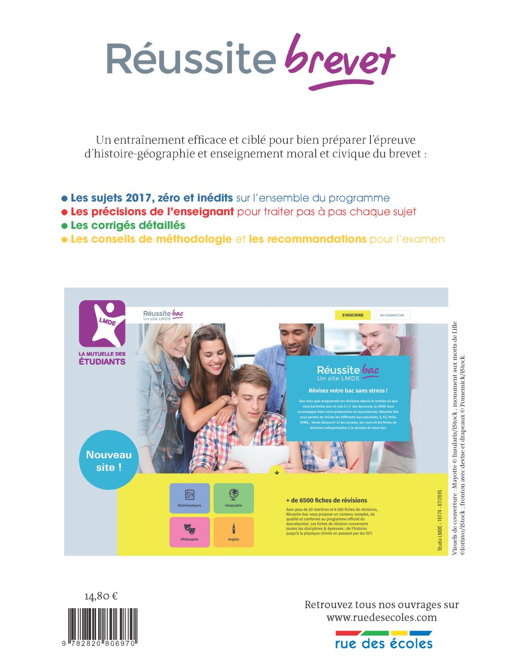Réussite brevet, Histoire-Géographie-Enseignement moral et civique 3e: 9782820806970: Amazon.com: Books