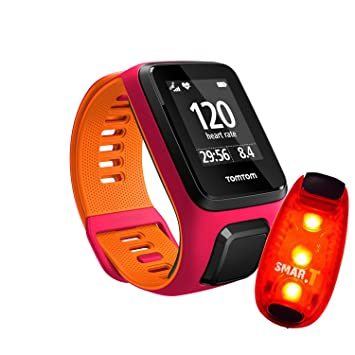 Pulso Reloj TomTom Runner 3 Cardio Small, incluye Smar.T Light Clip LED