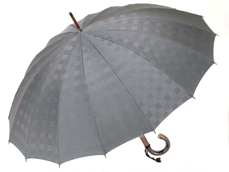 前原光榮商店のおしゃれなメンズジャガード16本骨傘 チェスChess(グレー) 皇室御用達前原光栄商店日本製メンズ雨傘 B01FI7OZI2