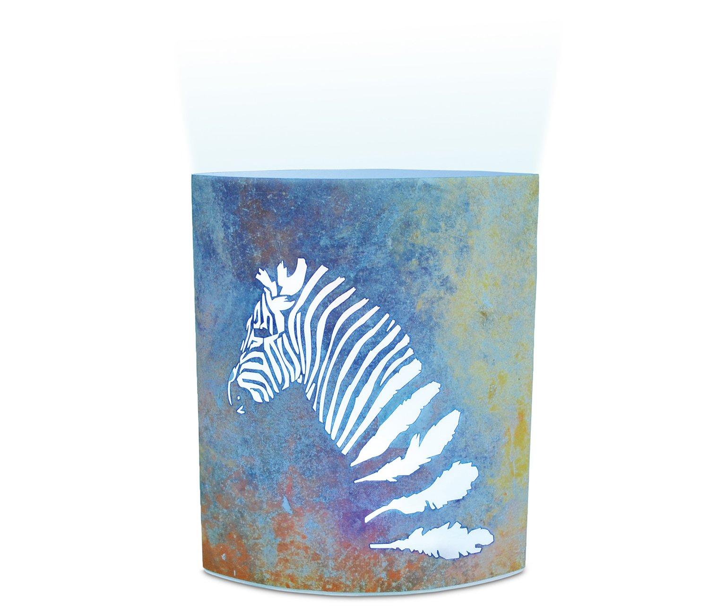 Puzzled Zebra LED Decorative Lanterns - Animal Theme - Elegant Unique Gift and Useful Souvenir - Item #9655