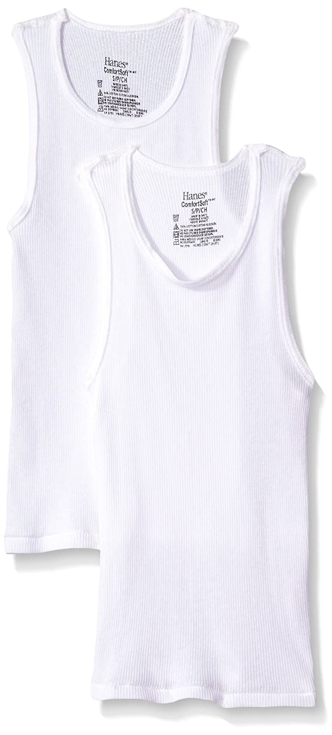 Hanes Big Boy's Ultimate ComfortSoft 2 Pack Tank BUS271