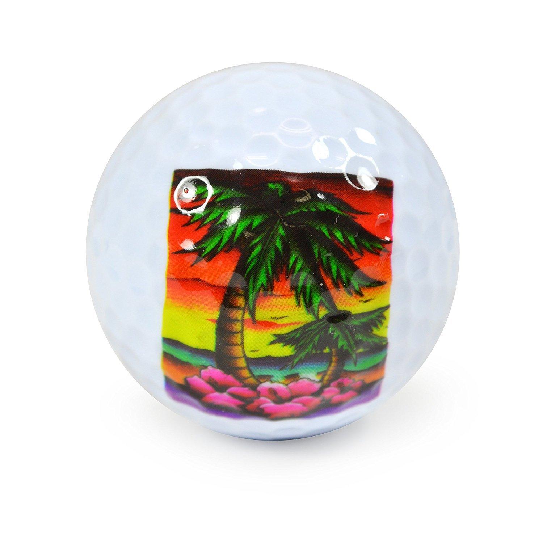 Nicks Underground Novelty Golf Balls - Paradise 3 Pack Display Tube [並行輸入品]   B072Q95L5F