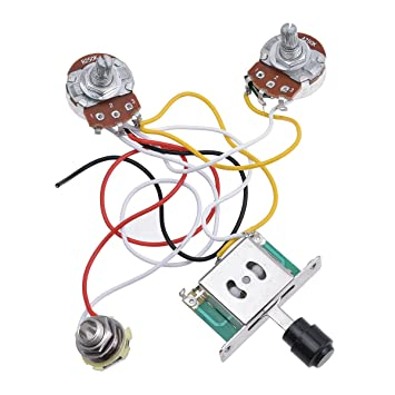 Surprising Kmise Prewired Wiring Harness Kit 3 Way Toggle Switch 250K Pots Jack Wiring Digital Resources Millslowmaporg