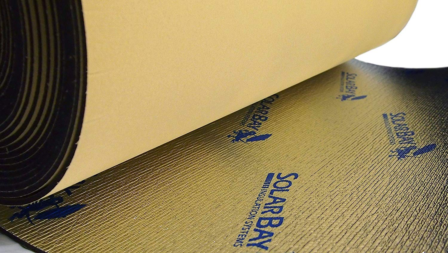 Underlay and Household Use Caravans 10m x 100cm Wide Solar Bay Self Adhesive Thermal and Acoustic XPEMP Foam Insulation for Campers Motorhomes
