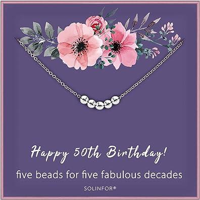 Amazon.com: SOLINFOR - Collar de plata de ley 925 con cinco ...