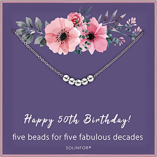 Amazon Com Solinfor 50th Birthday Gifts For Women 925 Sterling