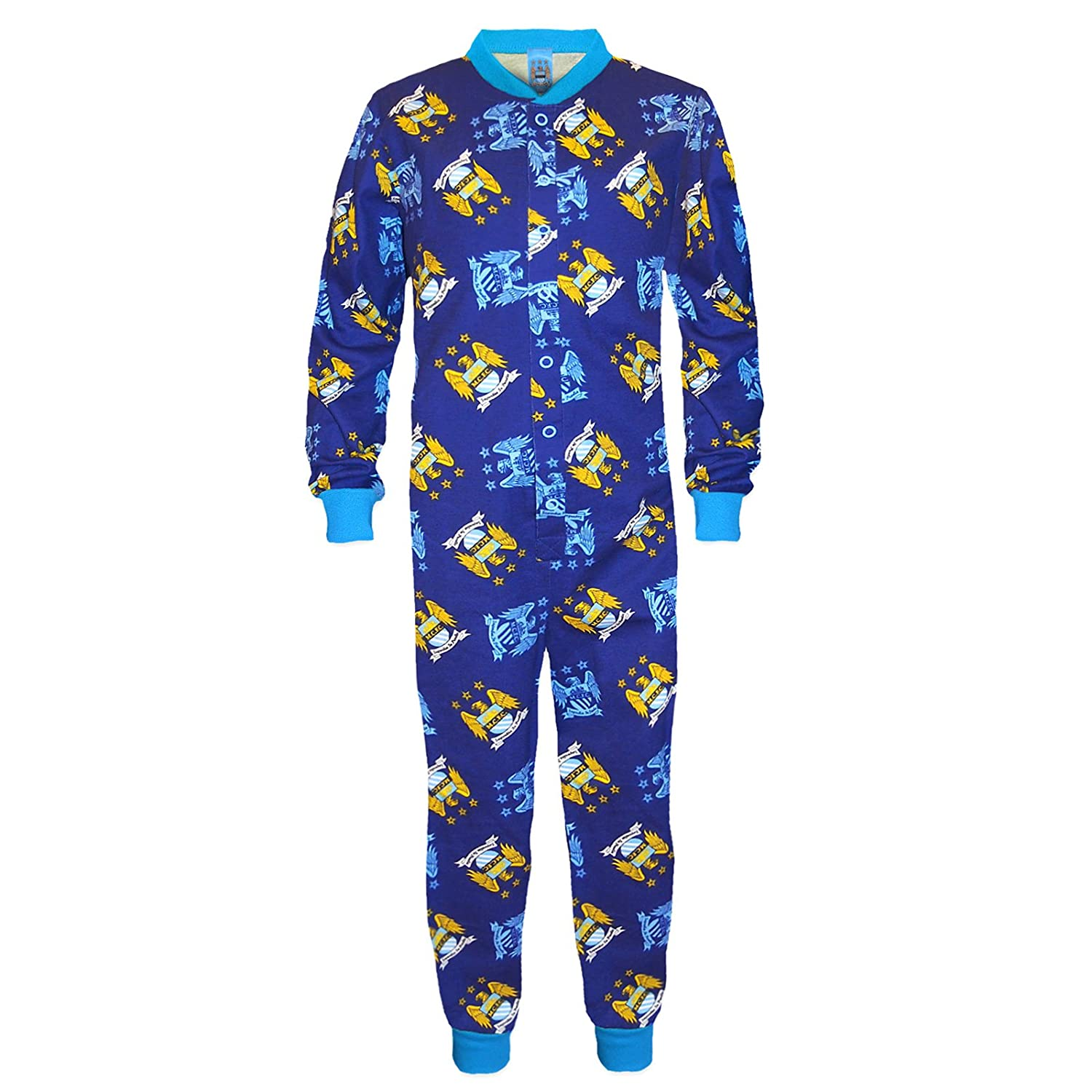 7fa2a04f Manchester City FC Official Football Gift Boys Kids Pyjama All-in-One:  Amazon.co.uk: Clothing