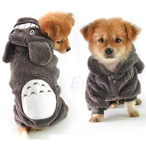 Qiuxiaoaa Pet Jumpsuit Totoro Hoodie Traje Ropa para Perros Chaqueta de la Mascota Abrigo Cachorro Gato