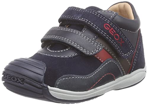 Geox B Toledo Boy - Zapatillas de Deporte para Bebés Niños, Azul - Blau (C4075DK Navy/Red), 23 EU