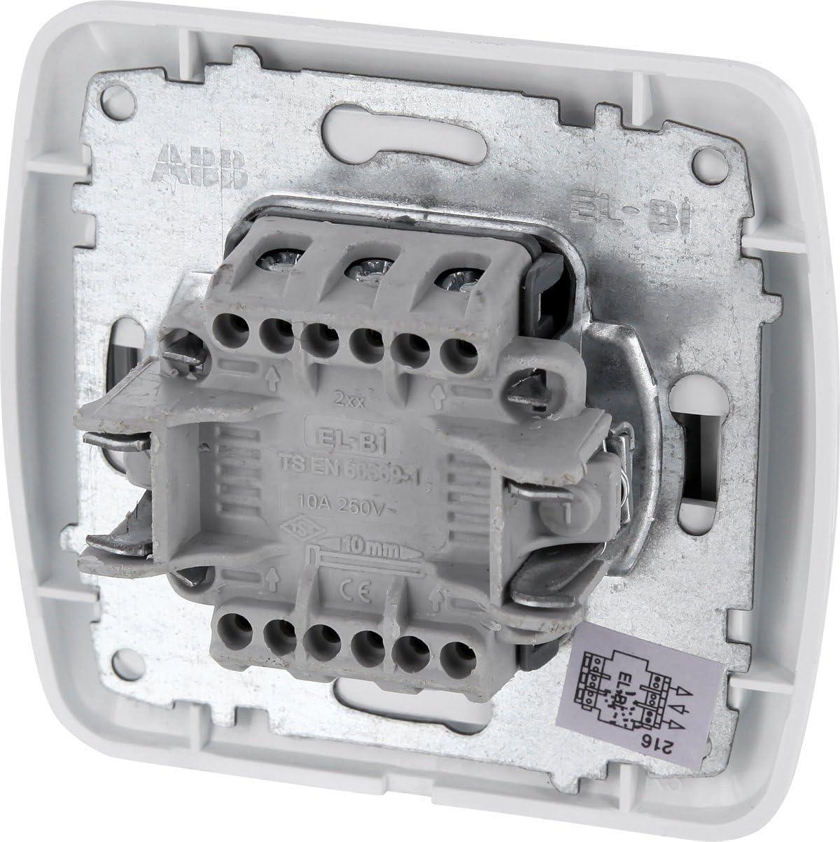 Unterputz-Einsatz Abdeckung UP Jalousietaster Serie T1 alpinwei/ß All-in-One Rahmen