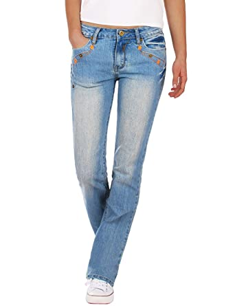 Fraternel Pantalones Vaqueros Mujer Recto Straight