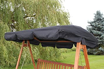 Spare Canopy for a 3 Seater Garden Swing Seat or Hammock in Black -459 : 3 seater garden swings with canopy - memphite.com
