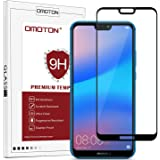 [2 Packs] OMOTON Compatible with Huawei P20 Lite Screen Protector - Full Coverage Tempered Glass Screen Protector - [3D Round Edge] [9H Hardness] [Crystal Clear] [Scratch Resist] for Huawei P20 Lite, Black
