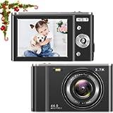 toberto HD Digital Camera, 1080P Vlogging LCD Mini Camera with 16X Zoom 44MP 2.7K Digital Point and Shoot Camera Video…