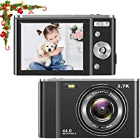 toberto HD Digital Camera, 1080P Vlogging LCD Mini Camera with 16X Zoom 44MP 2.7K Digital…