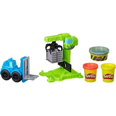Play-Doh Wheels Crane & Forklift Construction Toys with Non-Toxic Cement Buildin' Compound Plus 2 Additional Colors: Toys & Games