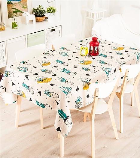 140 * 220 cm color beige verde en maceta Planta Nordic estilo ins ...