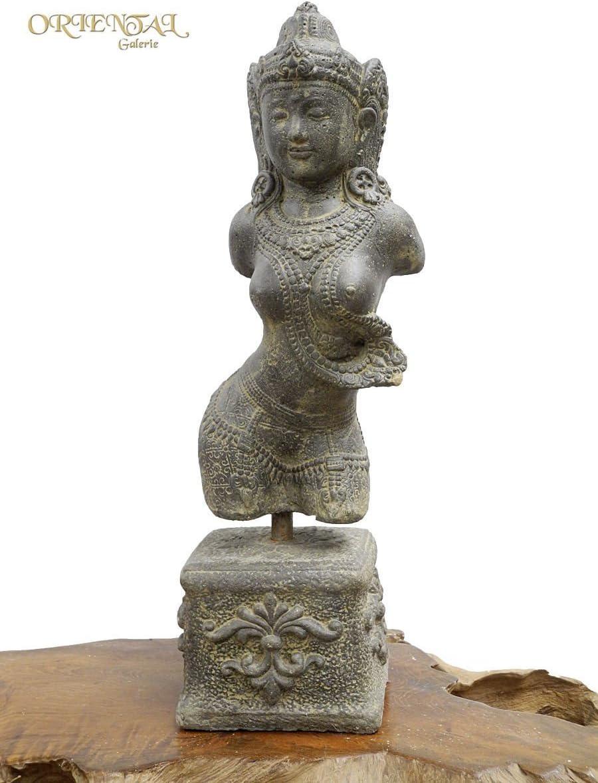 Oriental Galerie Devi Dewi G/öttin Statue Figur Skulptur Sita Torso B/üste Hindu Lavasand Guss 59cm