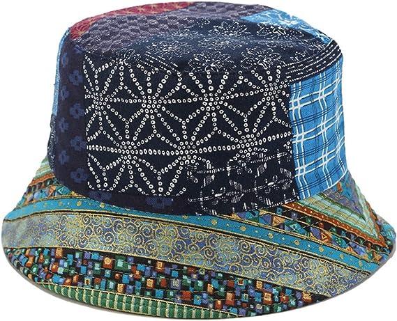 Unisex Boho Bohemian hat Vintage Fabric Summer Festival hat Funky Tribal Patchwork Hat Upcycled Bucket hat Mens Hippie Bucket Hat