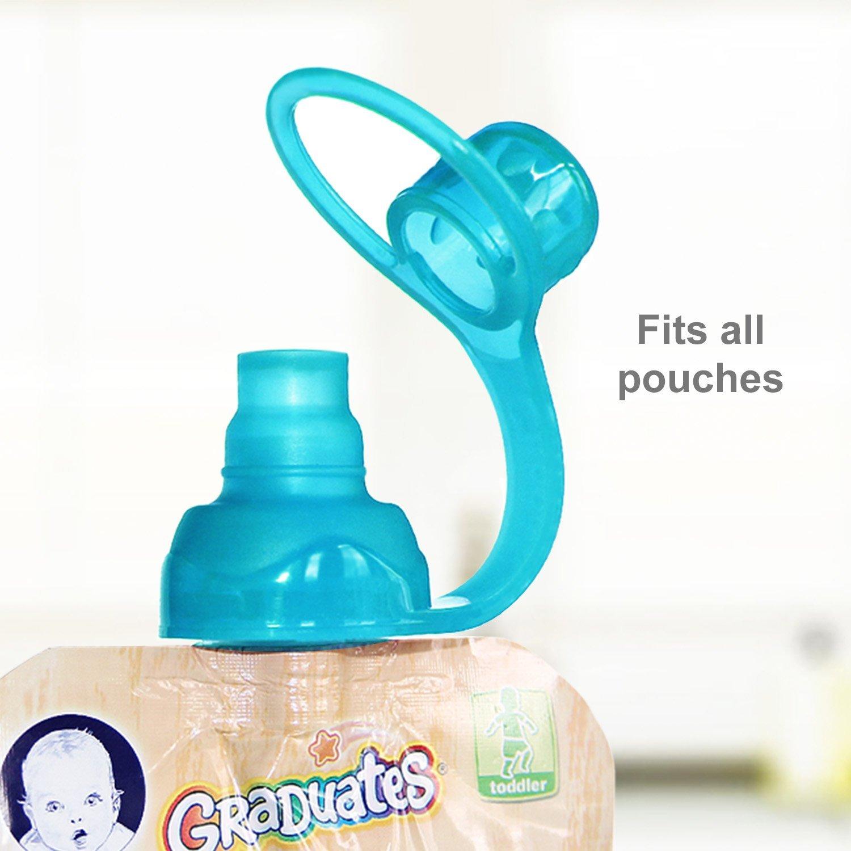 Doppel-Rei/ßverschluss 5 Unzen 4 Beutel 2 Sipn Ventil Tops Zu Sichern 2 Sipn ChooMee Wiederverwendbare Baby Lebensmittel Quetschbeutel