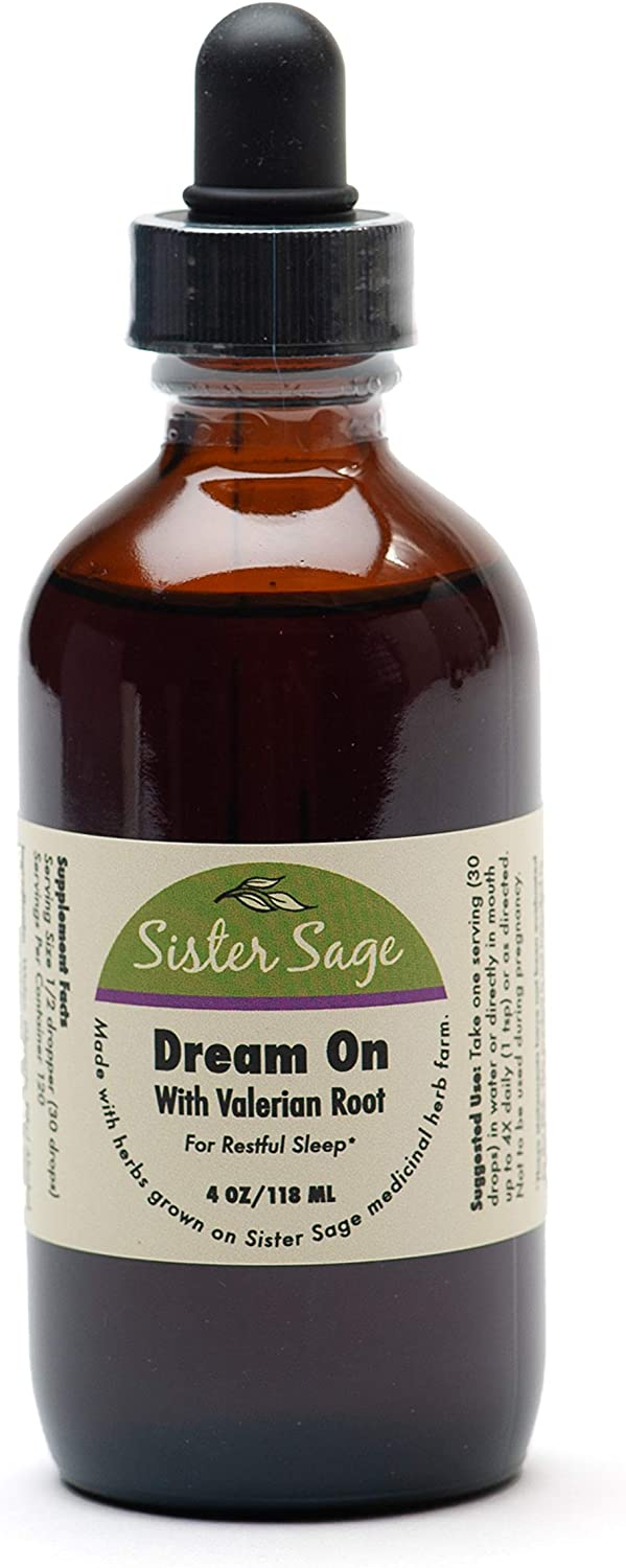 Dream On 100 All Natural Sleep Formula Tincture, Valerian Root Extract for Occasional Sleeplessness 4 oz
