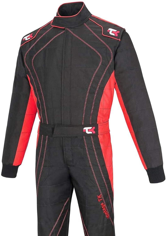 Black /& Orange, XL Adult Karting Suit//Race//Rally One Piece Cordura Suit Go Kart Racing Suit