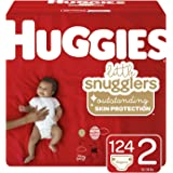 Huggies Little Snugglers Diapers, Size 2, 124 Count (Packaging May Vary)