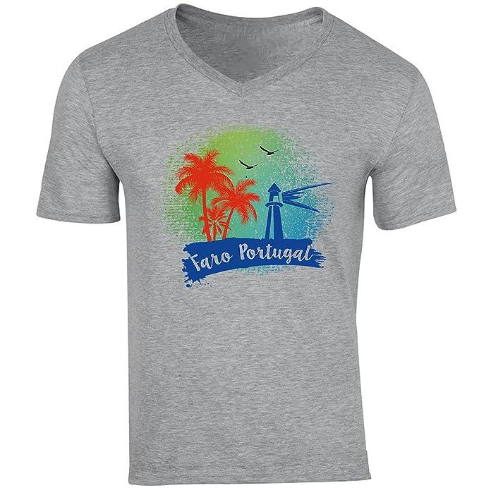 Camiseta Teesquare1st Portugal Hombre De Faro Gris Para Algodon qpLzMGjSUV