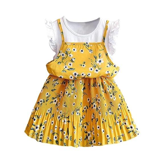 zolimx ropa bebe niñas Vestidos Niñas Verano, Zolimx 💕3-7 Años Bebé Niñas Desfile Floral Vestido de Fiesta Princesa Reborn Bebe: Amazon.es: Ropa y ...