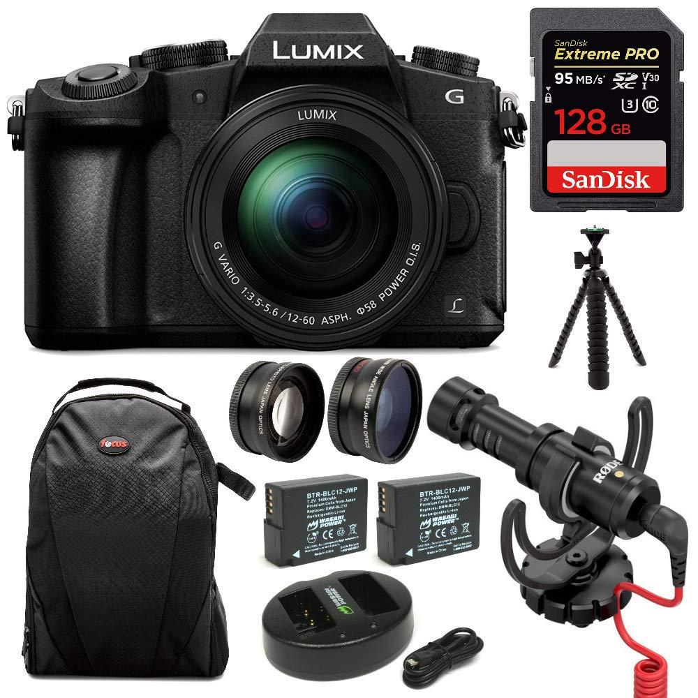 Panasonic LUMIX G85MK 4K Mirrorless Interchangeable Lens Camera Kit, 12-60mm Lens w/Rode Video Micro + 128GB