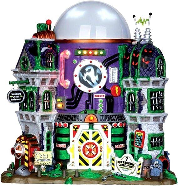 Lemax 35549 Fantasma contención Edificio Spooky Ciudad decoración de Halloween Iluminado: Amazon.es: Hogar