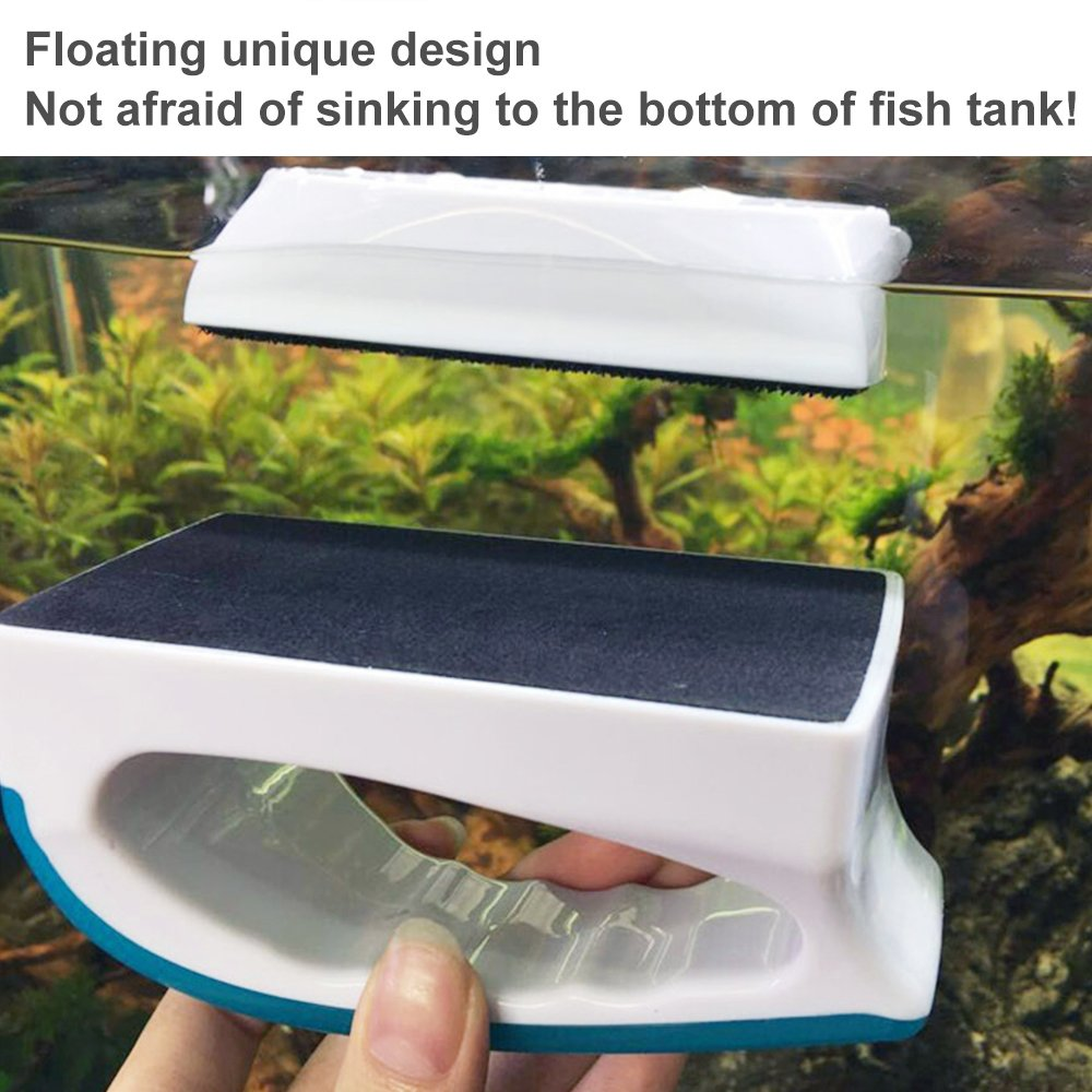 KEDSUM Magnetic Aquarium Fish Tank Cleaner, Fish Tank Glass Cleaner, Floating Clean Brush with Handle Design by KEDSUM (Image #4)