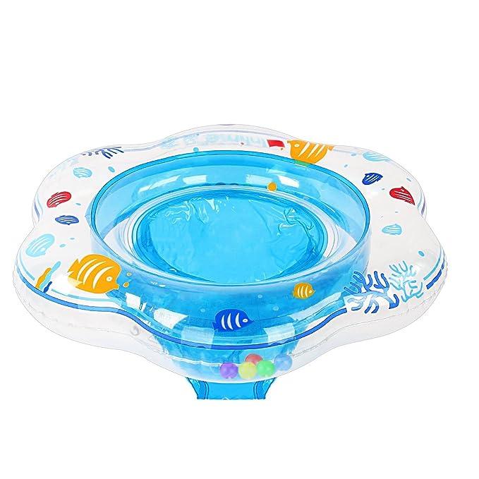 Samione Anillo de natación para bebé, Flotador para bebé con Asiento Ideal para niños Piscina de natación, Bebé Flotador de natación con PVC Apto para ...