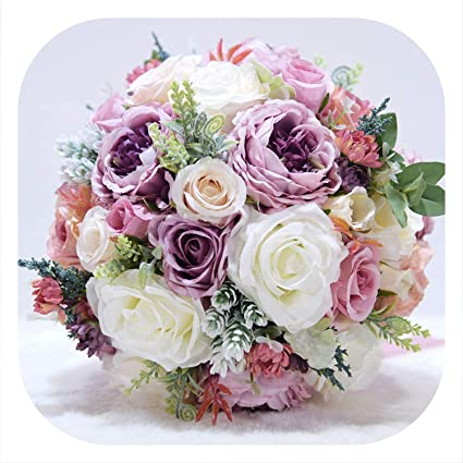 Amazon Com The Best Of Us New Wedding Bouquet Ivory And Blush