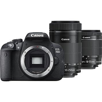 Canon EOS 700D + 18-55mm IS STM + 55-250mm IS STM Juego de cámara ...