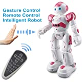 Remote Control RC Robots, Interactive Walking Singing Dancing Smart Programmable Robotics for Kids Boys Girls (White & Red)