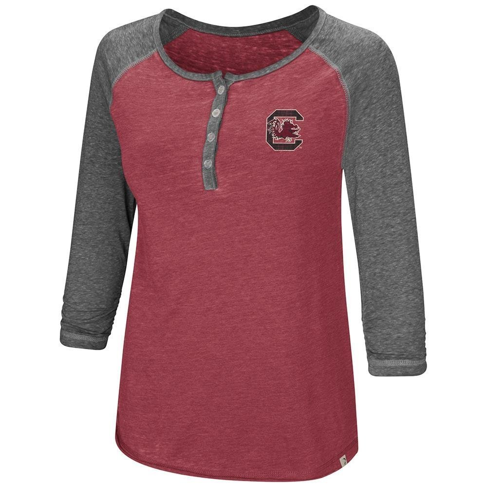 Colosseum レディース サウスカロライナゲームコックス ヘンリー 3/4 長袖Tシャツ B07DWJKG6Y  Medium