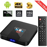 Bqeel 2018 X8T MAX Android 7.1 (2+16G) TV Box 2.4G WIFI Quad-core Android TV Box H.265 Smart TV Box 4K Output