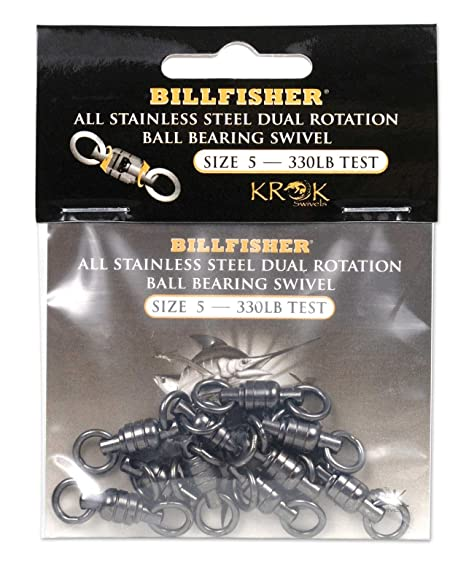 221f55946c0c7e Image Unavailable. Image not available for. Color  Billfisher KBBS330-10PK  Krok BB Fishing Swivels