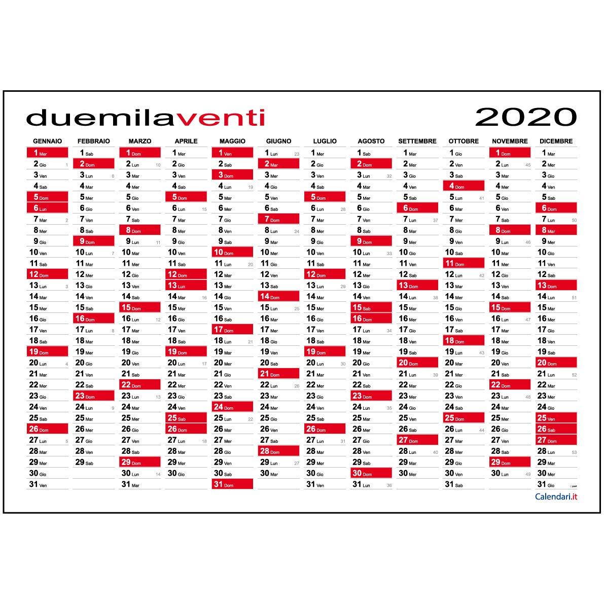 Calendario 2020 da muro planner MAXI 118x84 cm planning annuale per ufficio SPEDITO ARROTOLATO SENZA PIEGHE