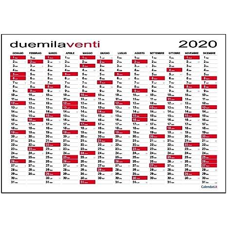 Calendario Fiscale 2020.Calendario 2020 Da Muro Planner Maxi 118x84 Cm Planning