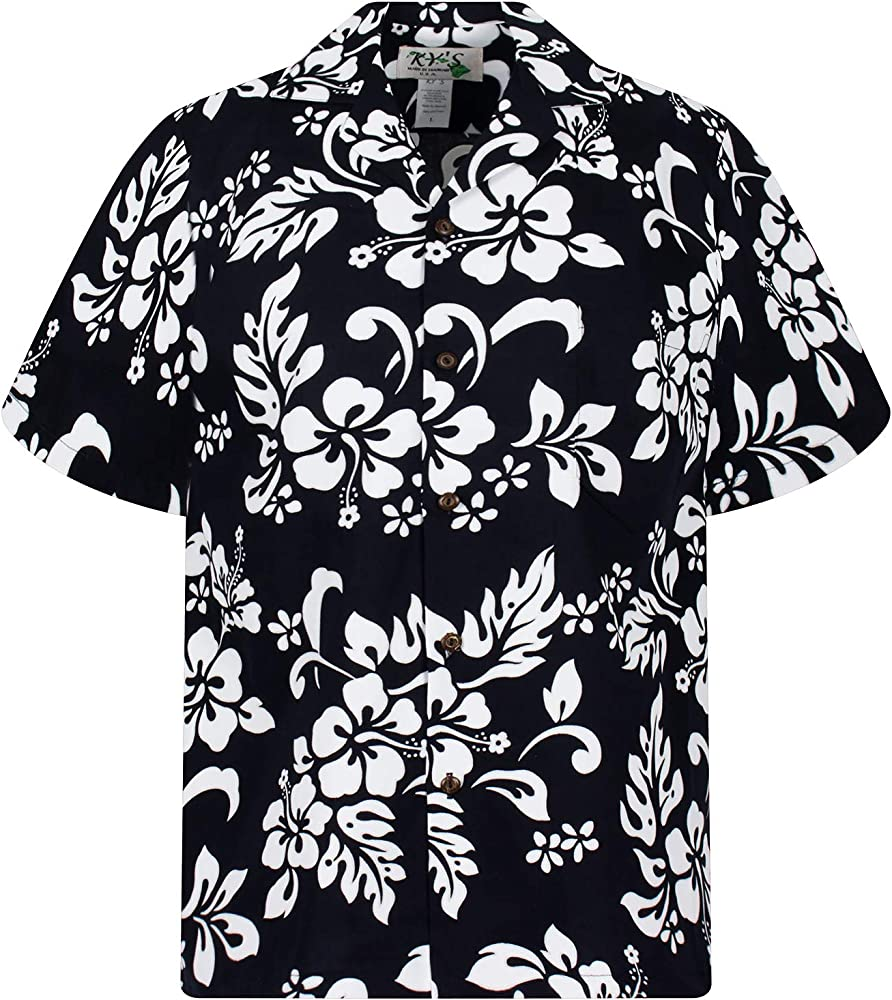 KYs Hawaiian Original Hawaiian Shirt, 81, Black, S: Amazon.es: Ropa y accesorios